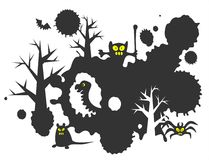 Black monsters background Royalty Free Stock Photos
