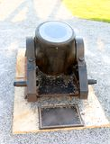 Black Mortar Cannon Inactive Royalty Free Stock Photo