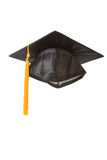 Black Mortarboard. With white background Royalty Free Stock Images