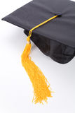 Black Mortarboard. With white background Royalty Free Stock Photos