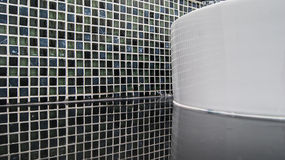 Black mosaic ceramic tiles with reflection for tiling Royalty Free Stock Photo