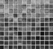 Black mosaic tile Stock Photography