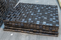 Black mosaic tiles Royalty Free Stock Photos