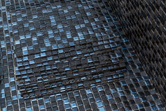 Black mosaic tiles. Black mosaic ceramic tiles for tiling royalty free stock photo
