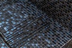 Black mosaic tiles Royalty Free Stock Photo