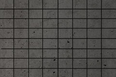 Black mosaic wall. Grey and black mosaic wall texture and background Royalty Free Stock Photography