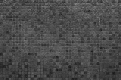 black mosaic wall texture and background Royalty Free Stock Photography