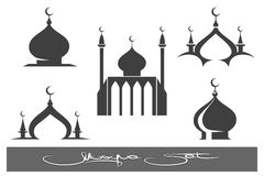 Black Mosques icons set Stock Image
