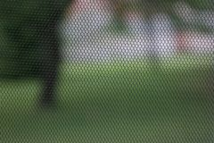 Black mosquito net. Summer protection from mosquito Royalty Free Stock Photo