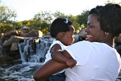 Black Mother and Daughter. African American mother and infant daughter Stock Photo