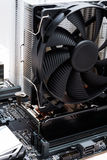 Black motherboard with fan for cpu Stock Image