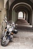 Black motocycle Royalty Free Stock Photography