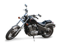 Black  motor cycle Royalty Free Stock Photo