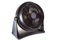 Black motor fan. Isolated on white Royalty Free Stock Images