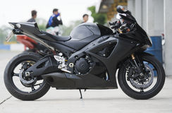 Black motorbike Stock Image