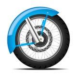 Black motorbike wheel Stock Photos