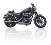 Black motorbike  Royalty Free Stock Photos