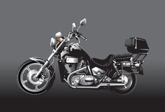 Black motorcycle. Realistic illustration of Black motorcycle Royalty Free Stock Photo