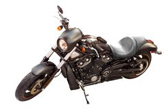 Black motorcycle Stock Images