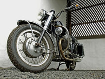 Black motorcycle Stock Photos