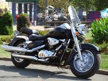 Black motorcycle Royalty Free Stock Image