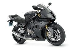Black motorcycle. On white background Stock Photos