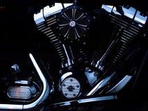 Black Motorcycle Engine Stock Image