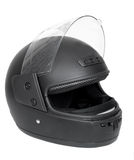Black motorcycle helmet Stock Photography