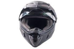 Black motorcycle helmet Royalty Free Stock Photos