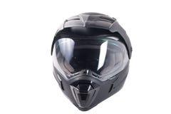 Black motorcycle helmet Stock Images