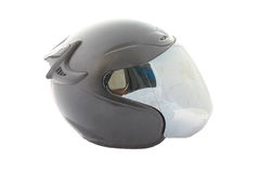 Black motorcycle of helmet isolated. Stock Photography