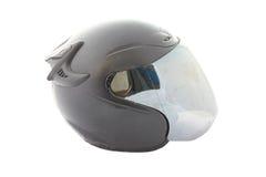 Black motorcycle of helmet isolated. Stock Photography