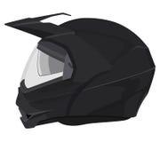Black motorcycle helmet Royalty Free Stock Images