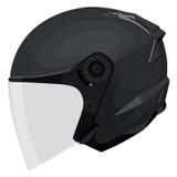 Black motorcycle helmet Stock Image