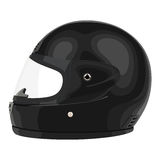 Black motorcycle helmet Royalty Free Stock Photo