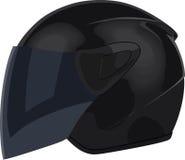 Black motorcycle helmet Royalty Free Stock Photography