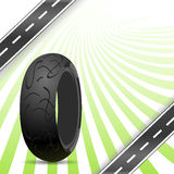 Black motorcycle rubber tire Royalty Free Stock Photo