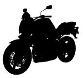 Black Motorcycle Silhouette 300 dpi Royalty Free Stock Image