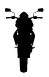 Black Motorcycle Silhouette 300 dpi Royalty Free Stock Images