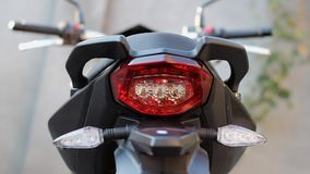 Motorcycle and its unit stock video footage