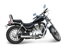 Black motorcycle on white Royalty Free Stock Photos