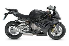 Black motorcycle. On white background Stock Image