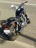 black motorcykeln Arkivfoton