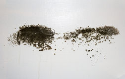 Black Mould on a wall Stock Photos