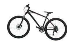 Black mountain bike isolated. On white background Royalty Free Stock Photos
