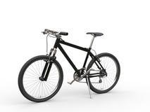 Black mountain bike studio shot Stock Image