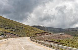 Black Mountain Pass in Lesotho Royalty Free Stock Photo