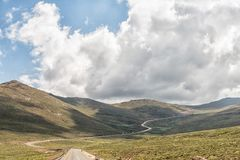 Black Mountain Pass in Lesotho Stock Photo