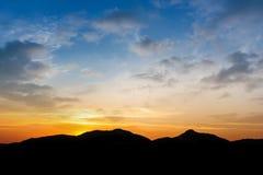 Black mountain on twilight Royalty Free Stock Photos