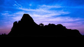Black mountain on twilight time Stock Photo